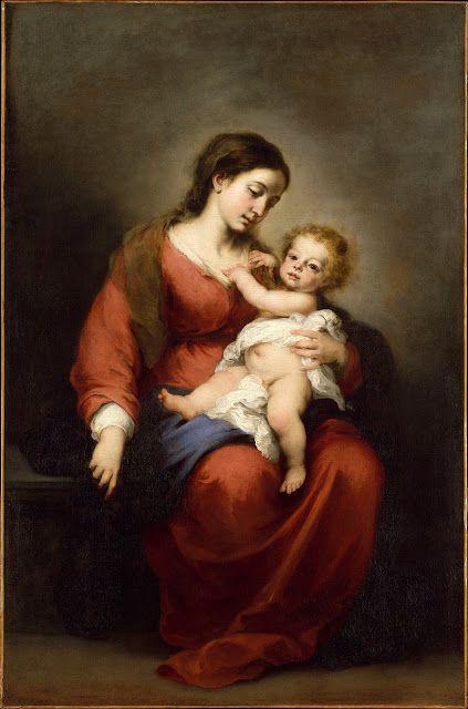 Παναγία βρεφοκρατούσα (1675-82) Μητροπολιτικό Μουσείο Τέχνης Νέας Υόρκης