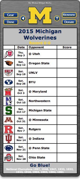 BACK OF WIDGET - Free 2015 Michigan Wolverines Football Schedule ...