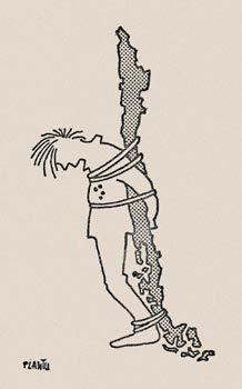 Memoria Viva en Chile, caricatura de Plantu
