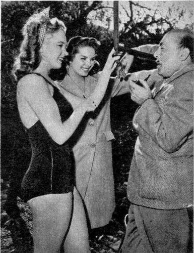 on the set of Scudda Hoo! Scudda Hay!, 1947