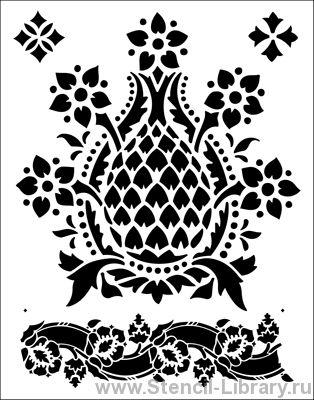 Викторианский узор 2 - Трафареты для декора :: Комплекты - купить с доставкой без предоплаты :: изготовление трафаретов для стен под покраску по каталогу и на заказ
