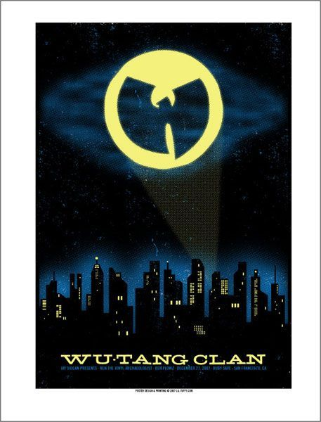 Wu-Tang Clan concert poster by Lil Tuffy