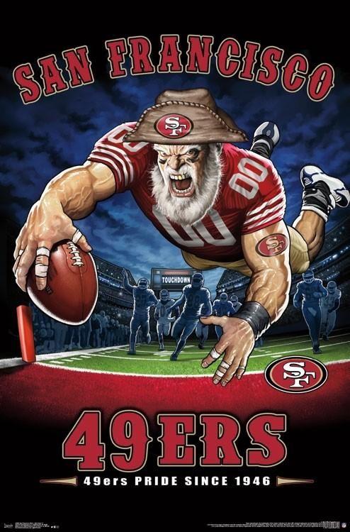 "San Francisco 49ers ""49ers Pride Since 1946"" NFL Theme Art Poster – Liquid Blue/Trends Int'l"