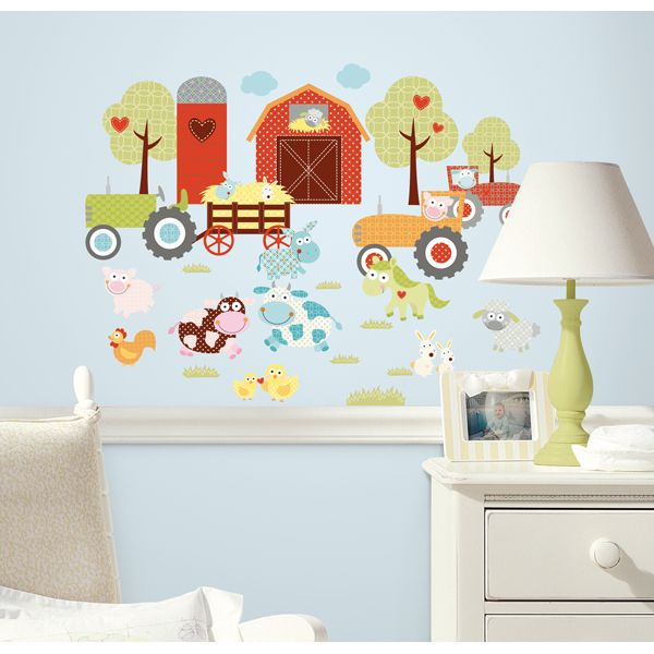 Happy Barnyard Wall Stickers   $24.45 : Bellas Little Ones Australia,  ErgoBaby Carrier Nursery Wall Part 50