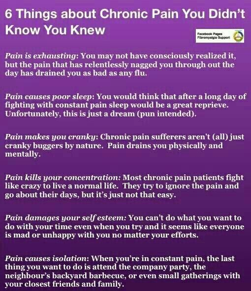 6 Things About Chronic Pain