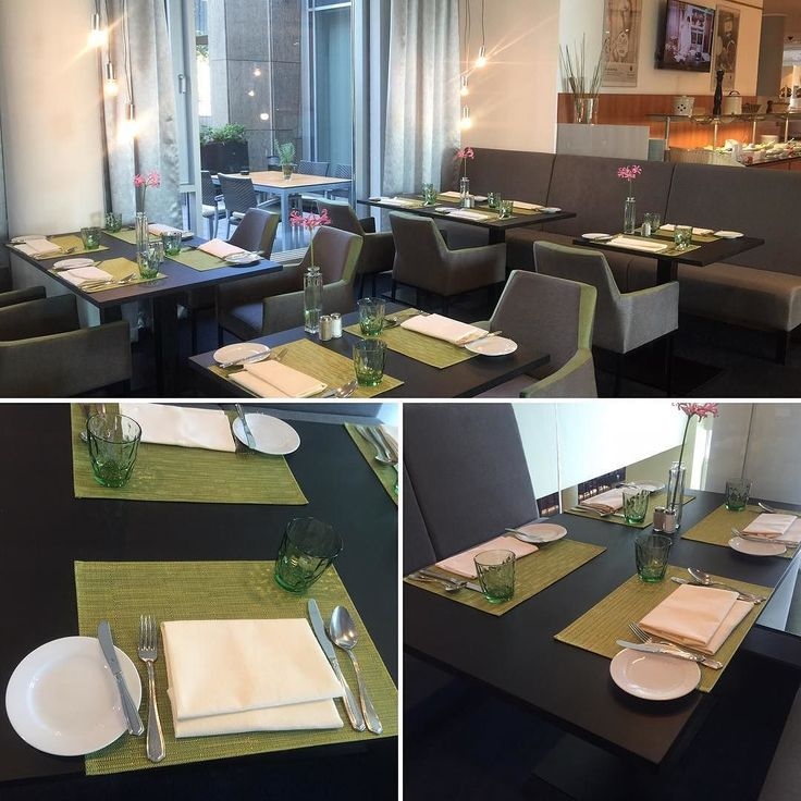 Ein paar #Bilder vom frisch renovierten #Restaurant im #Ramada #Hotel in #Kassel  ist das #grün nicht toll? #Travel #hhotels #urlaub #mittagessen