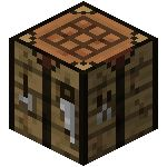 Minecraft crafting table image template