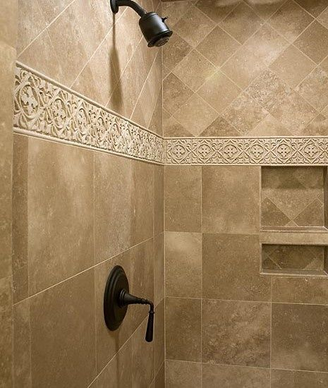 I like the tile going in different directions, just not that stripe detail.