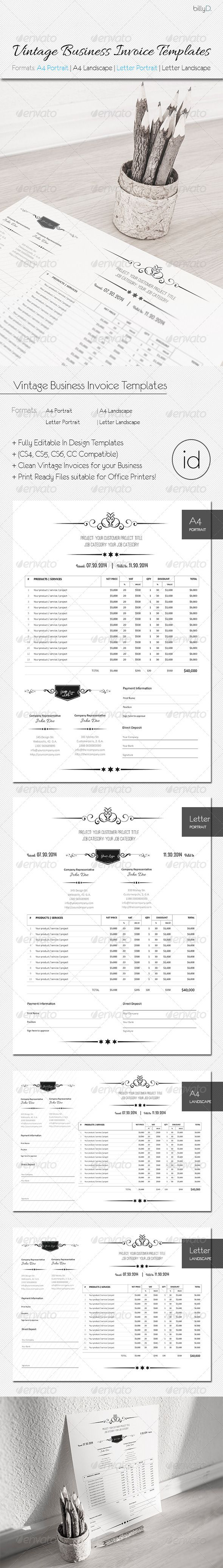 Best Templates Devis Images On   Invoice Design