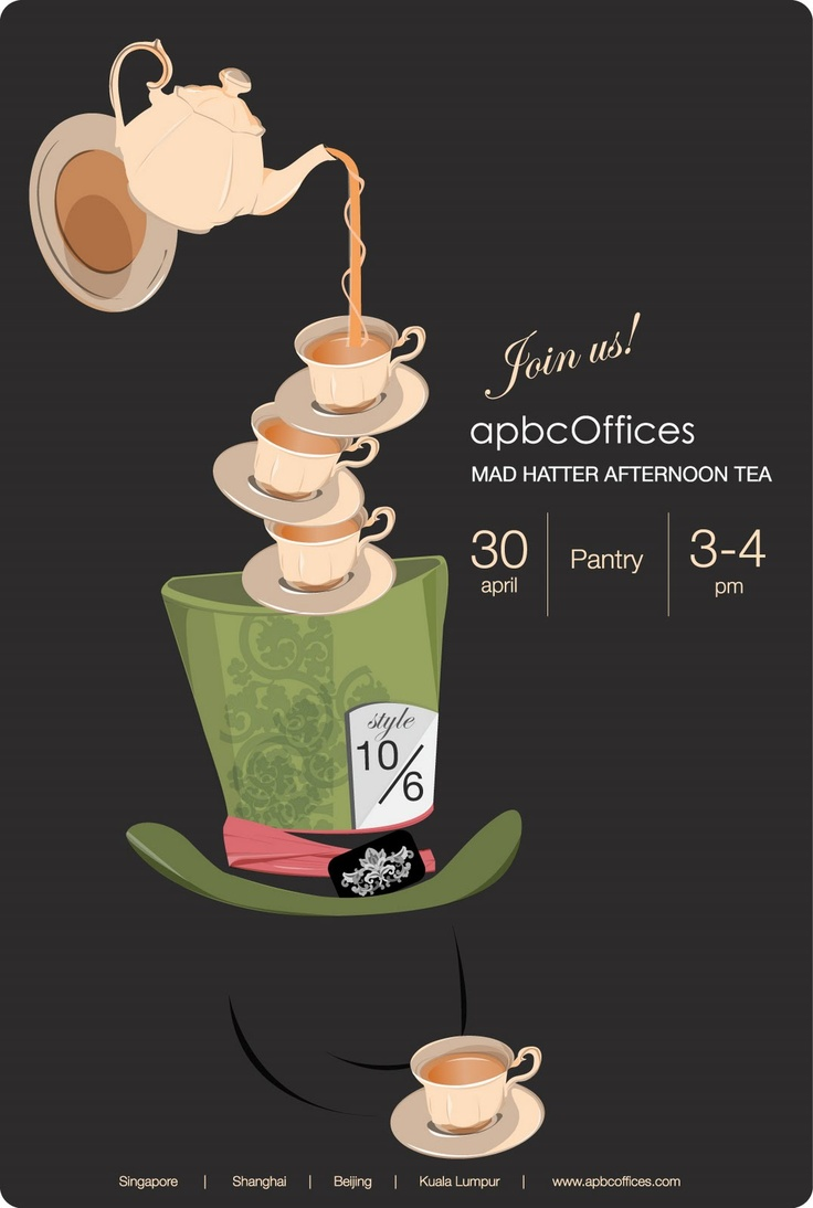 mad hatter teparty invitations pinterest%0A tea party invite    Mad Hatters
