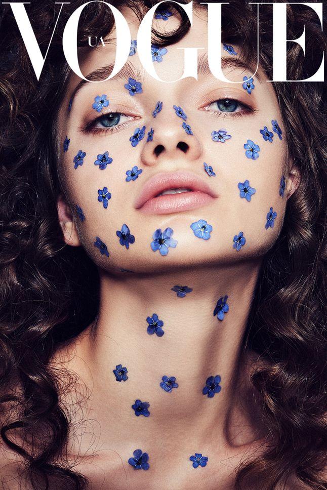 Kati Feofanova for Vogue Ukraine by Dan Carabas with hair and make-up by Catrin Kreyss