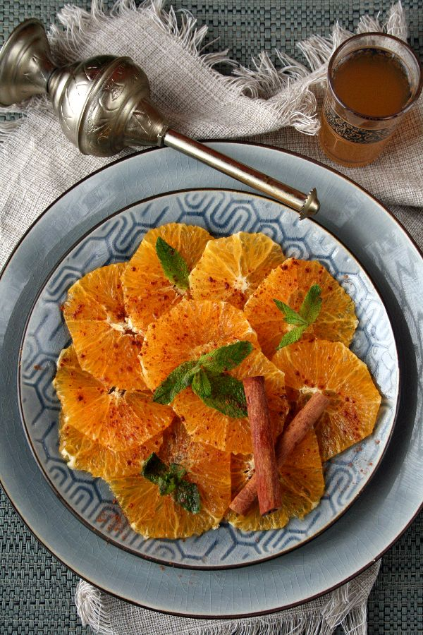 Salade d'orange marocaine à la cannelle