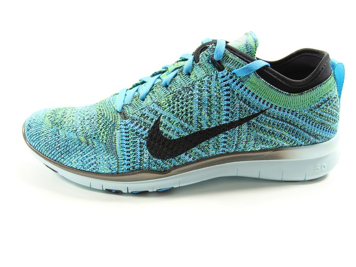 NIKE Womens Free Trainer Flyknit Running Shoes Size 8.5 (Blue Lagoon)