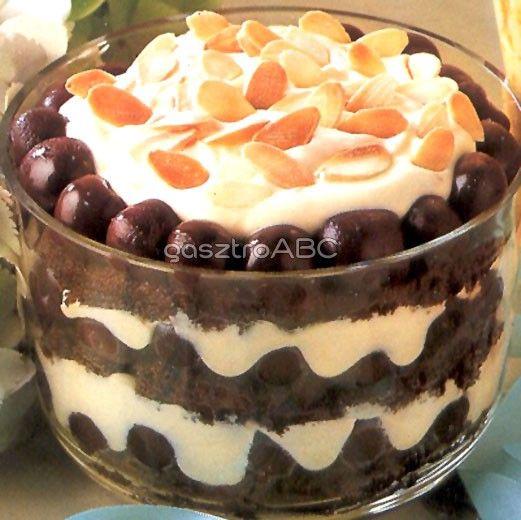 Csokoládés-meggyes triffle