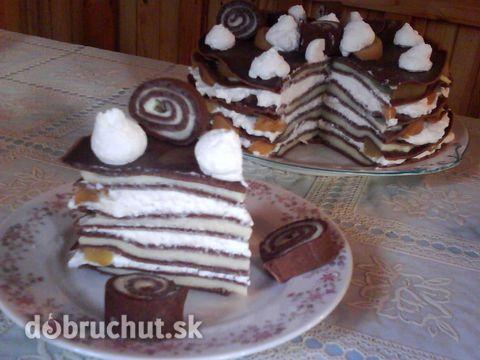Fotorecept: Palacinková torta Fantázia