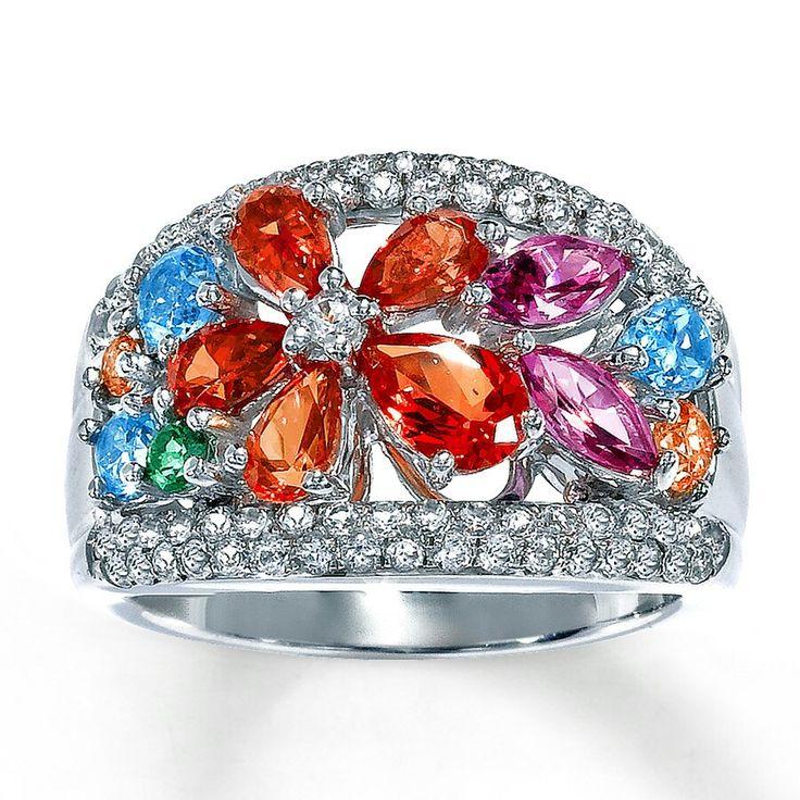 Multi Color Topaz Stone Ring | ~ TOPAZ JEWELRY ~ | Pinterest