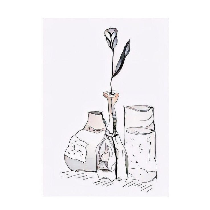 The #white #calla #lilly got a #colorize treatment. #digital version of a #drawing on #paper