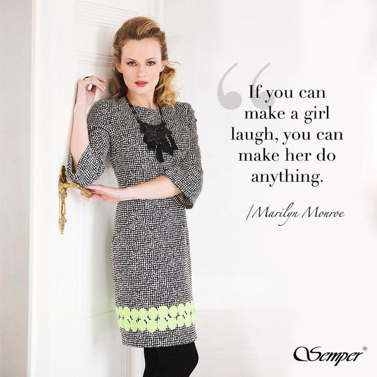 Drogie Panie, zgadzacie się z Marilyn Monroe? :) #semper #fashion #semperfashion #moda #modapolska #sentencja #cytat #quotes #inspiracje #stylish #women #kobietasemper