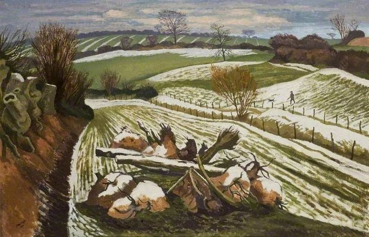 'Melting Snow at Wormingford' by John Nash, 1962 (oil on canvas)