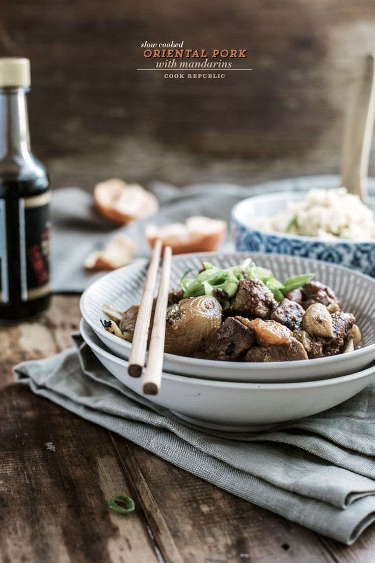 Slow Cooked Oriental Pork With Mandarins - Cook Republic