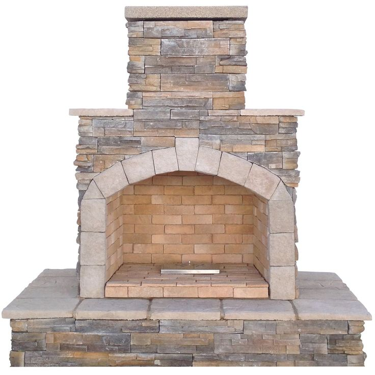 Cal Flame 78-inch Brown Cultured Stone Propane Gas Outdoor Fireplace (Stone Finish), Outdoor Décor