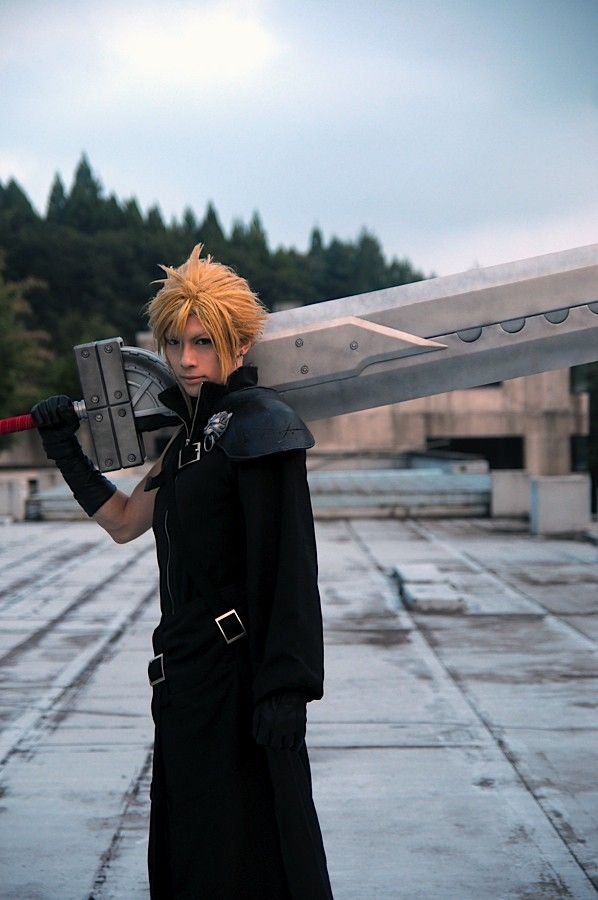 Final Fantasy VII 7 Advent Children Cloud Strife Cosplay Costume