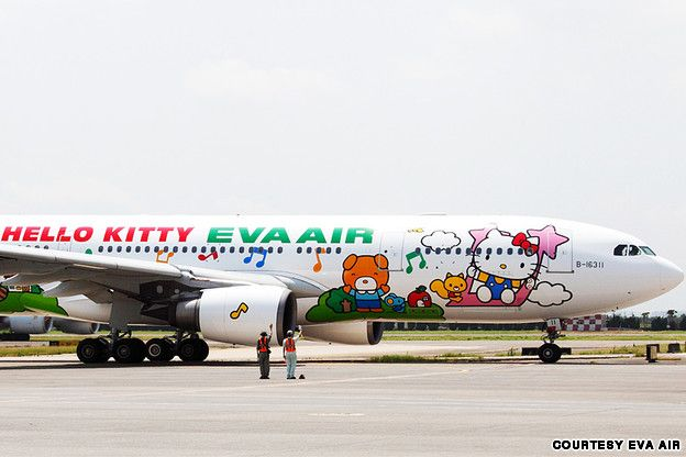 hello kitty plane - heading for the us sept 2013 - no design available yet of what they will look like
