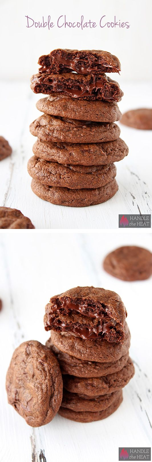Double Chocolate Cookies - ultra chewy, ooey, and gooey!