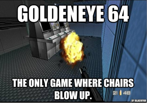 Funny how we never really considered this at the time... #goldeneye007 #n64 #WTF