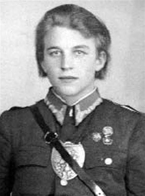 """Ppor. Emil Butor """"Sierp"""", z-ca kpt. Stanisława Kopika """"Zemsty"""", dowódcy oddziału NSZ ze zgrupowania kpt. """"Bartka""""."""