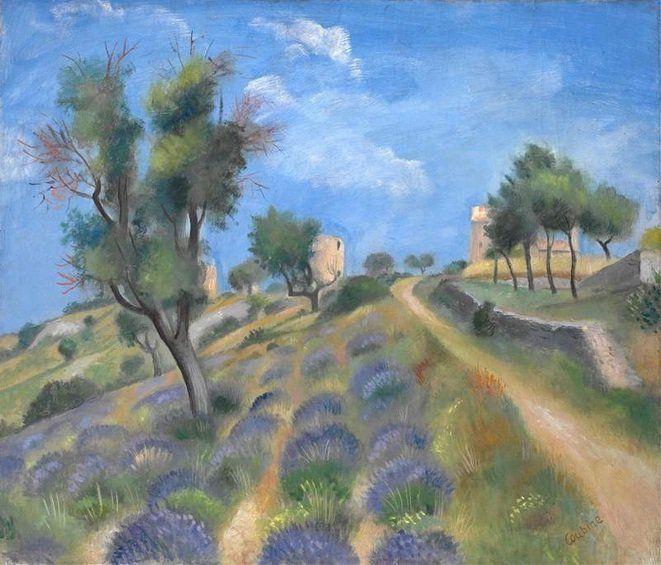 Otakar Kubín - Landscape in Provence (beginning of 1930's) #painting #art #Czechia #France