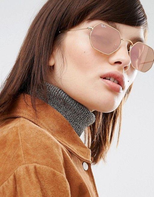7d31bdbe1de Óculos Ray Ban Hexagonal® – Rose