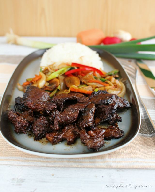 Try this beef teppanyaki recipe that is possible even if you do not own a teppan! | www.foxyfolksy.com