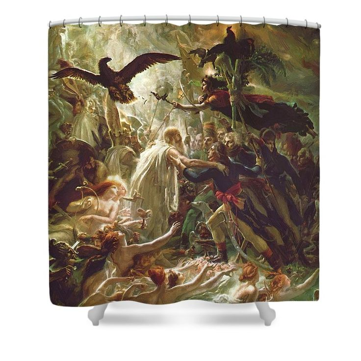 Ossian Shower Curtain featuring the painting Ossian Receiving The Ghosts Of The French Heroes 1801 by Girodet AnneLouis