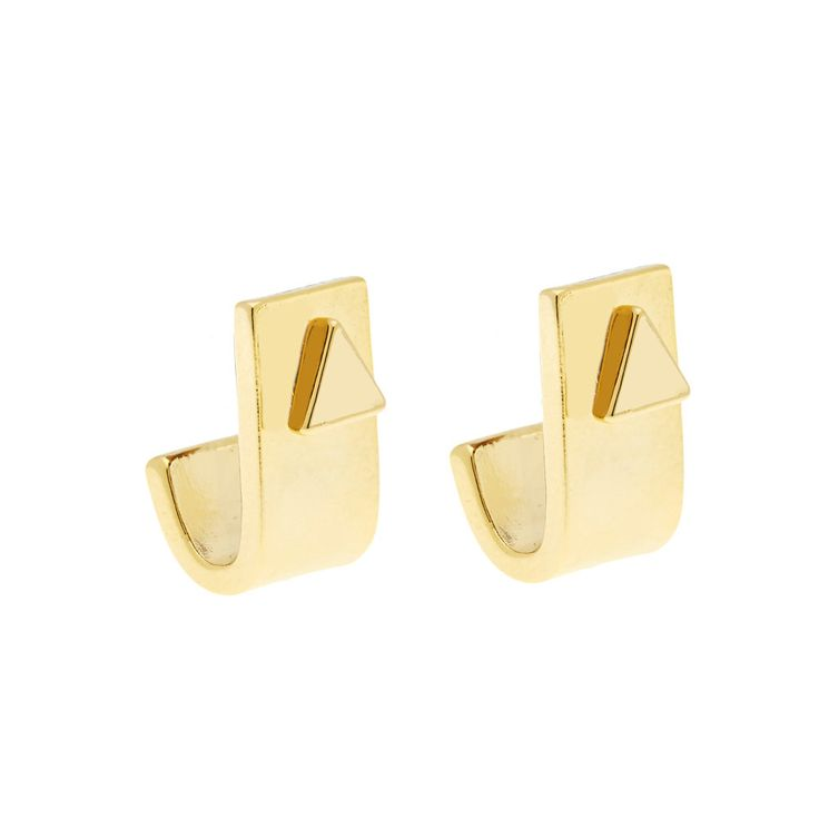 Silva Ear Jacket in Gold - available in gold and silver. $24. #goldearrings #earjackets #foxyoriginals #goldearjackets #jewelrygift #gift #holidaygift #frontbackearrings