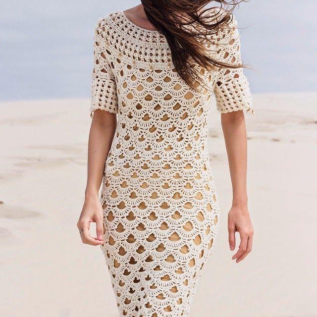 про переднюю вязаное платье крючком фото со схемами поклонники