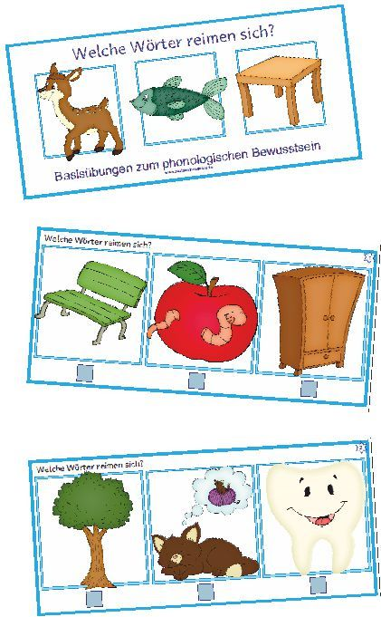 Deutsch, phonologische Bewusstheit, Reime, Reim, Reimwörter, Bild, Bilder Karten, 3 Bilder ankreuzen, was reimt sich, Vorschule, Klasse 1, Lehrerblog Zaubereinmaleins