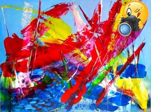 #paintings Abstract, Contemporary, Modern and Original Art. #Acrylic on canvas. Size: 36x48x0.7 inches. A mixed media work created using spatulas and brushes. I ...