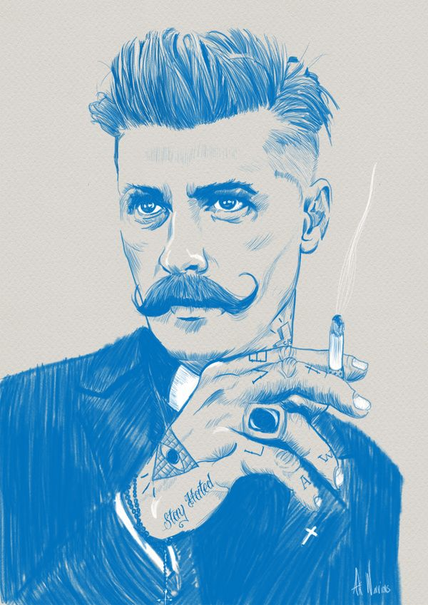Preacher I & II by Art Warriors , via Behance #fashion #illustration