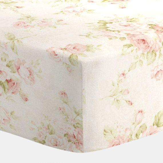 Carousel Designs Pink Floral Crib Sheet