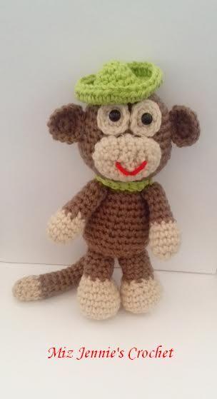 Amigurumi Monkey --- Pattern Used: little-big foot-monkey ...
