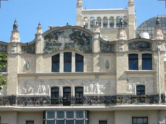 Фрагмент фасада, Гостиница «Метрополь». Л.Н. Кекушев