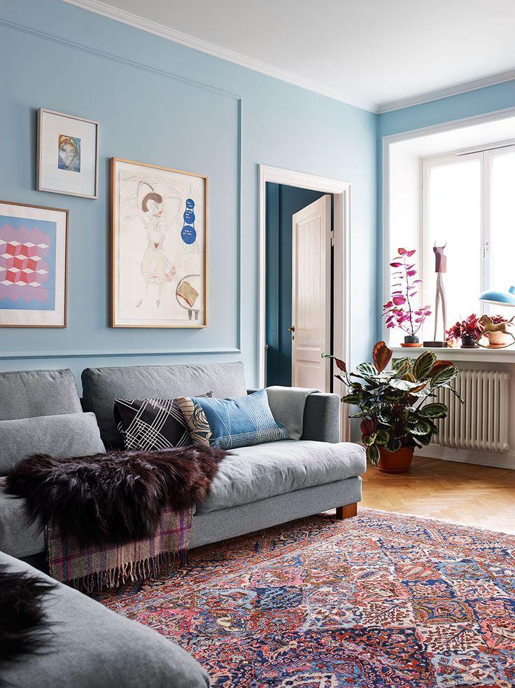 Fyra nyanser av blått och drömmigt kök | ELLE Decoration