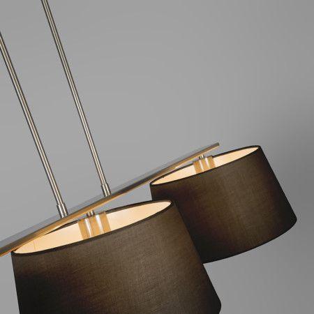 Lampa wisząca Combi Delux 3 klosz okrągły 30cm czarny