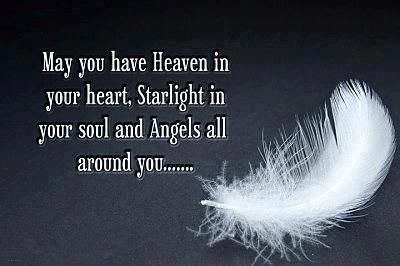 Angel Feather Poem   The following is a poem I found many years ago and has stayed with me ...