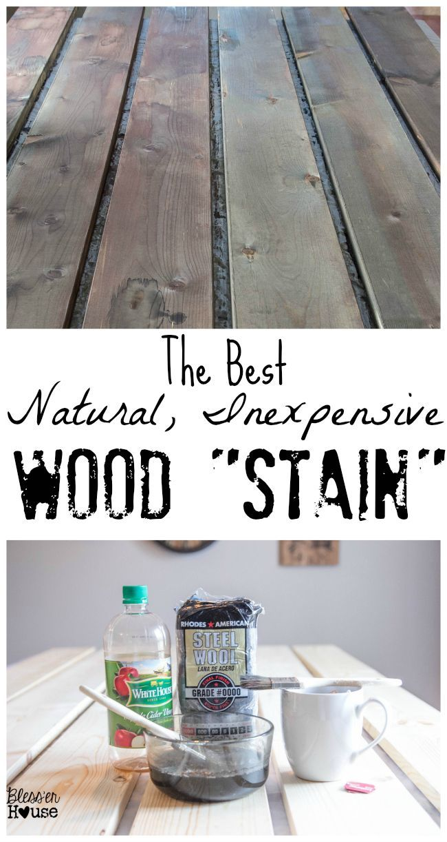 The Best Natural, Inexpensive Wood Stain | Bless'er House - Save money, time, and cleanup, using just a few ingredients from the kitchen to stain wood.
