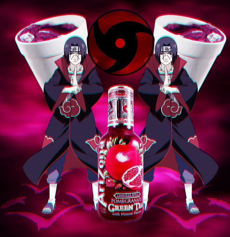 Itachi Uchiha From Naruto / Naruto Shippuden As Vaporwave