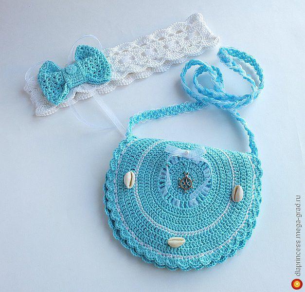 """Сумочка""""Право руля!""""+повязка с бантом - вязание и вышивка, подарки для детей ручной работы. МегаГрад - город мастеров и художников"""