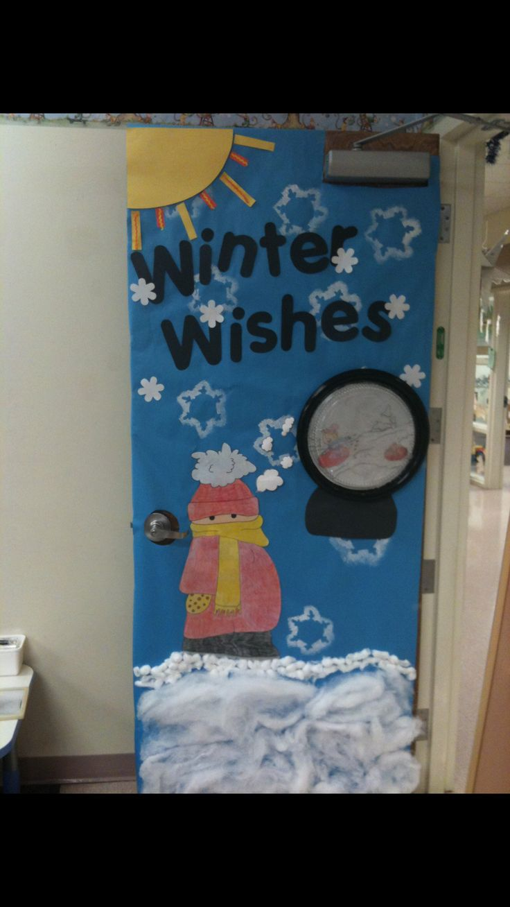A Winter Classroom Door I Did For My K Readiness Class