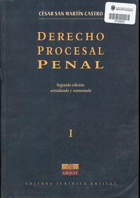 derecho procesal penal san martin castro libro - Buscar con Google